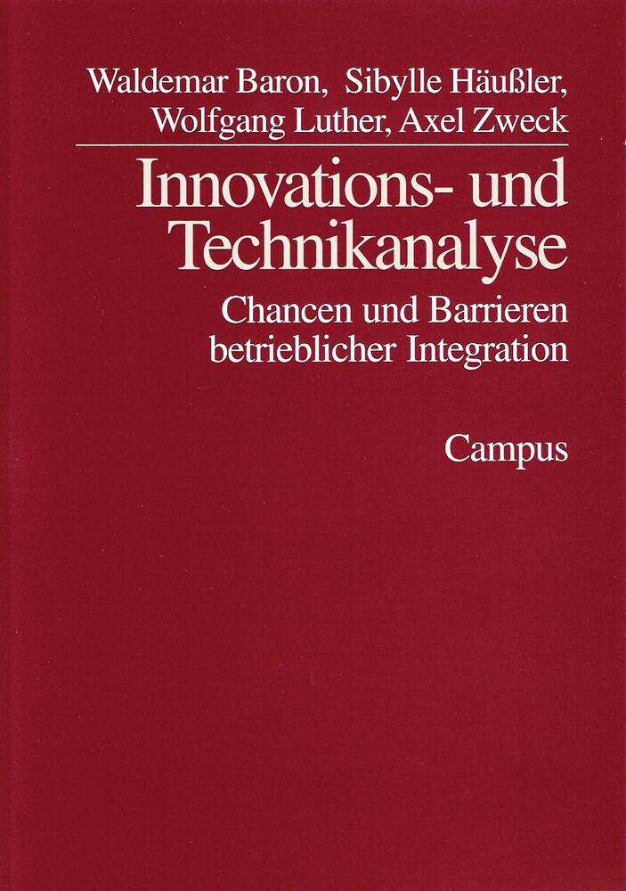 Innovations- und Technikanalysen als Buch