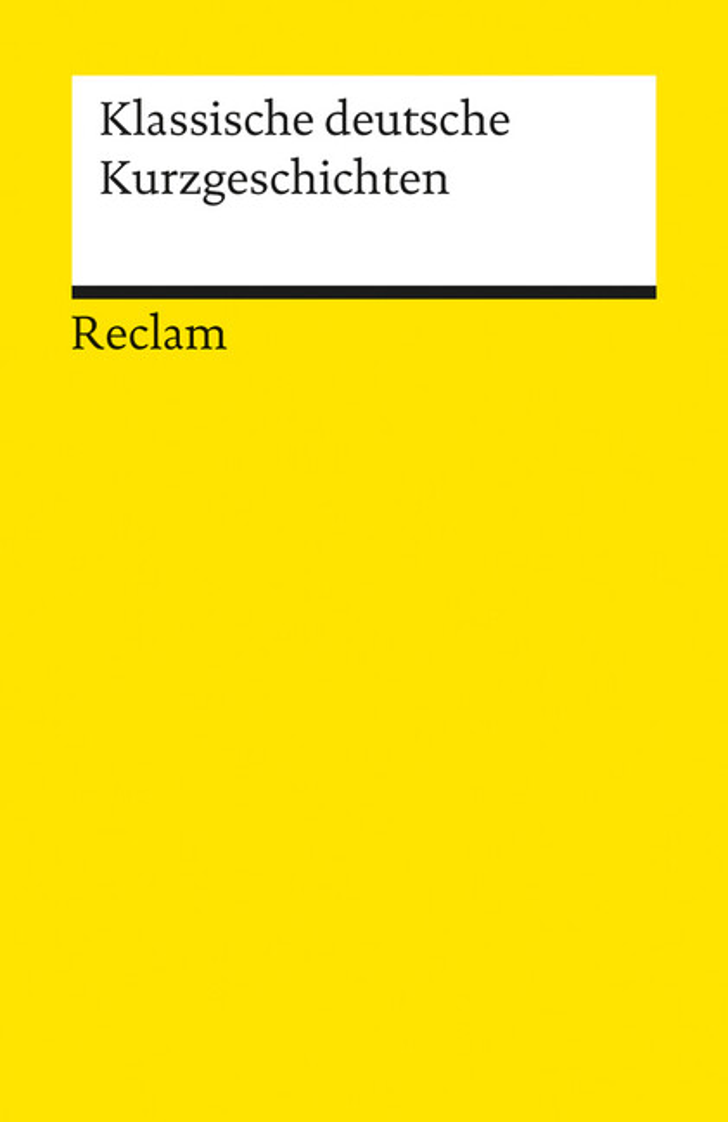 Klassische deutsche Kurzgeschichten als Taschenbuch
