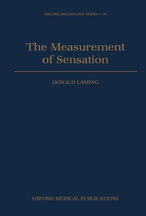 The Measurement of Sensation als Buch