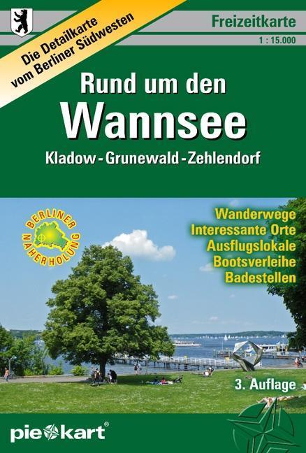PIEKART Freizeitkarte Rund um den Wannsee 1 : 15.000 als Blätter und Karten