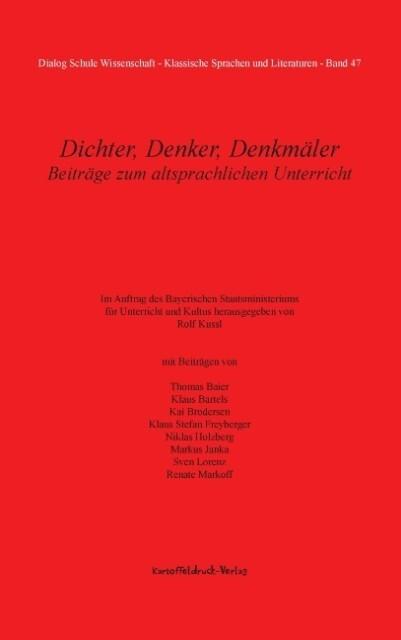 Dichter, Denker, Denkmäler als Buch