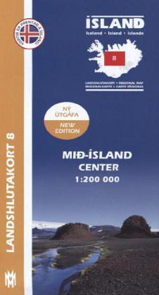 IRK 08 Mid-Island / Island Hochland Regionalkarte 1 : 200 000