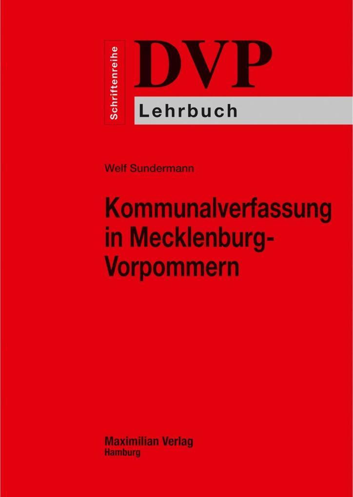 Kommunalverfassung in Mecklenburg-Vorpommern als eBook