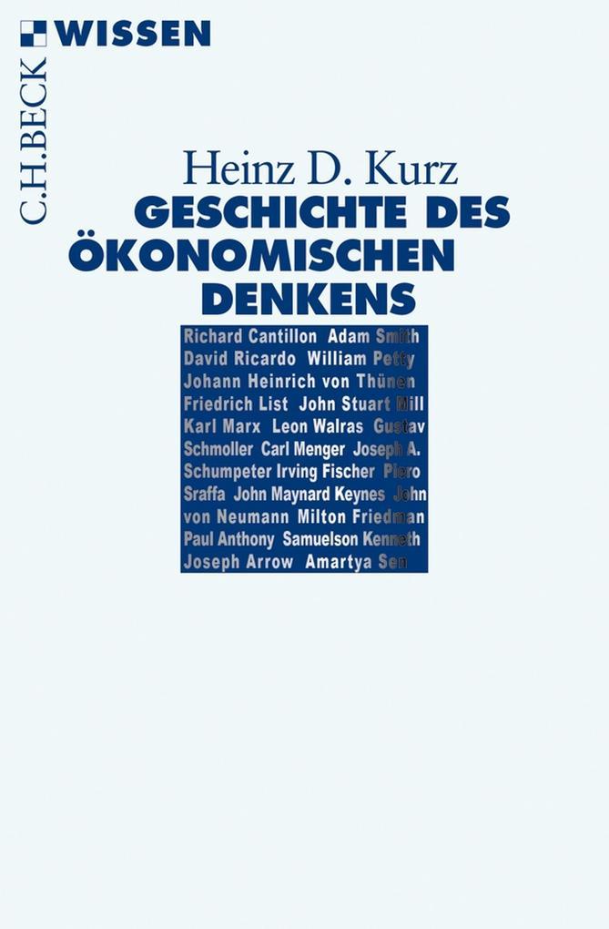 Geschichte des ökonomischen Denkens als eBook epub