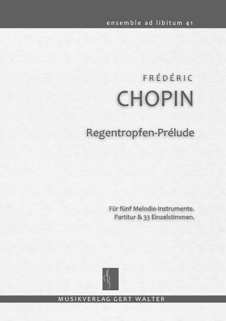 Regentropfen-Prélude als Buch von Frédéric Chopin
