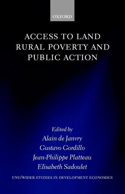 Access to Land, Rural Poverty, and Public Action als Buch