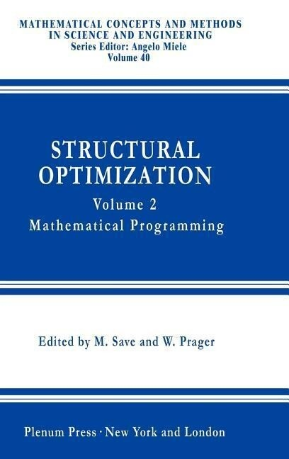 Structural Optimization, als Buch