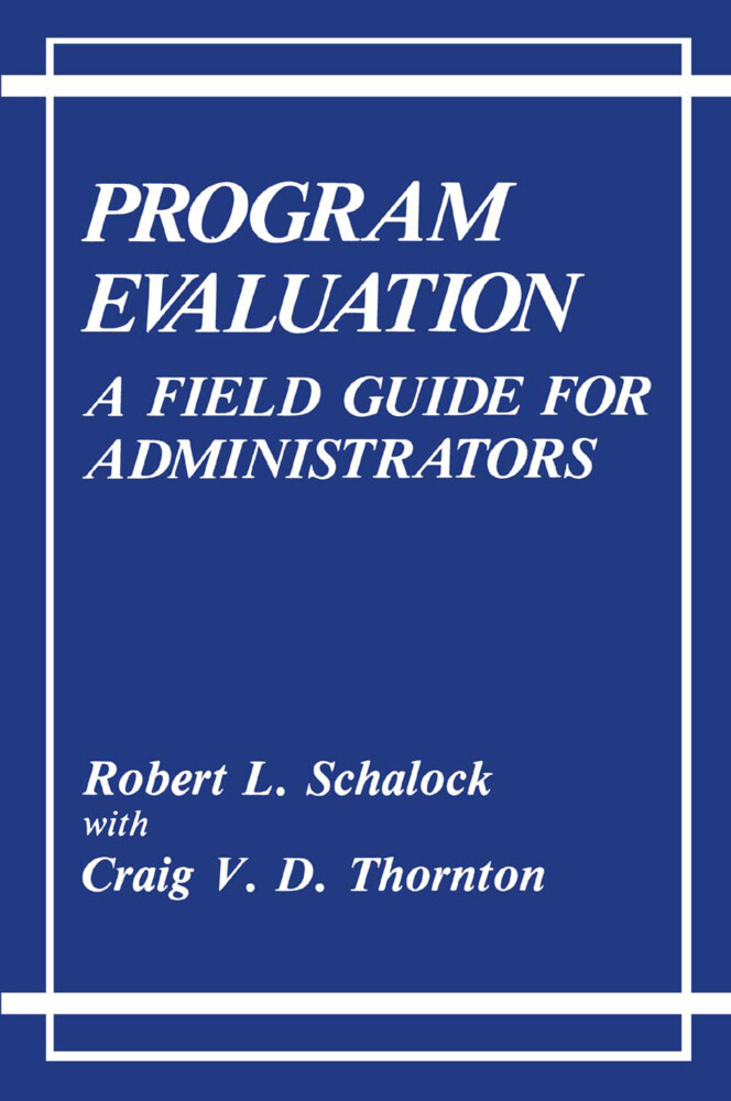Program Evaluation als Buch