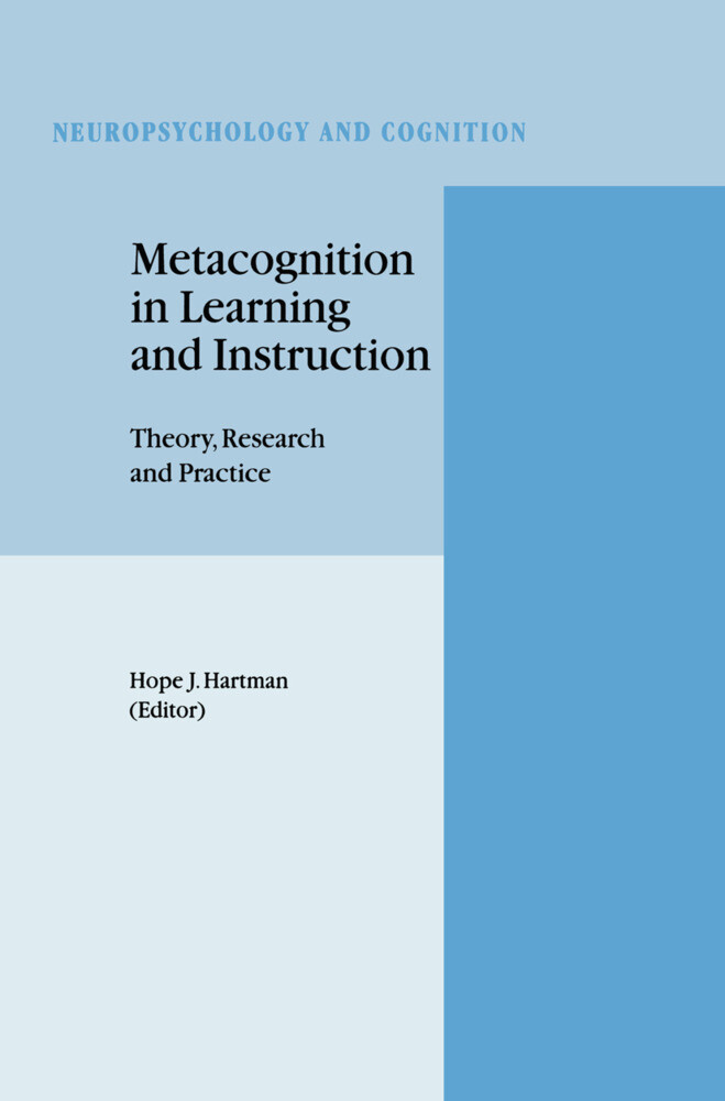 Metacognition in Learning and Instruction als Buch