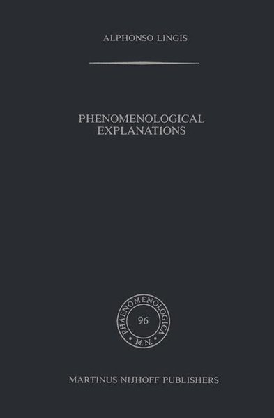 Phenomenological Explanations als Buch (gebunden)