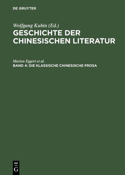 Die klassische chinesische Prosa als Buch