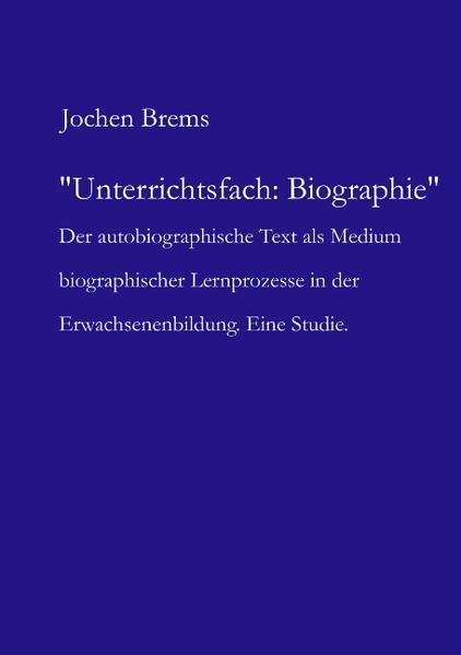 Unterrichtsfach: Biographie als Buch