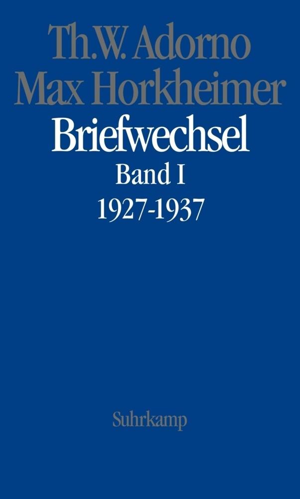 Briefwechsel 1. 1927 - 1937 als Buch