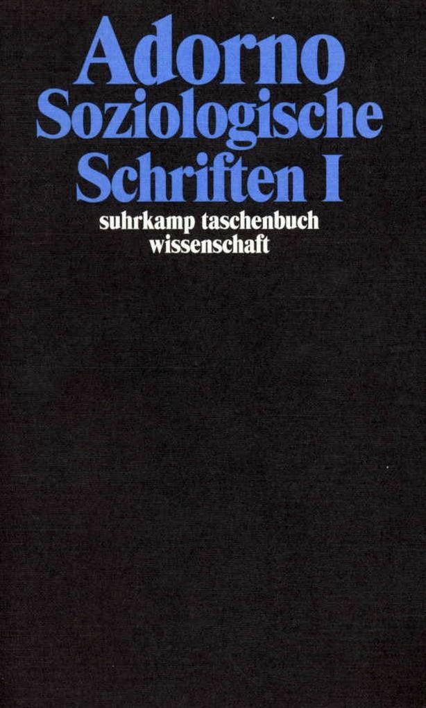 Soziologische Schriften I als Taschenbuch