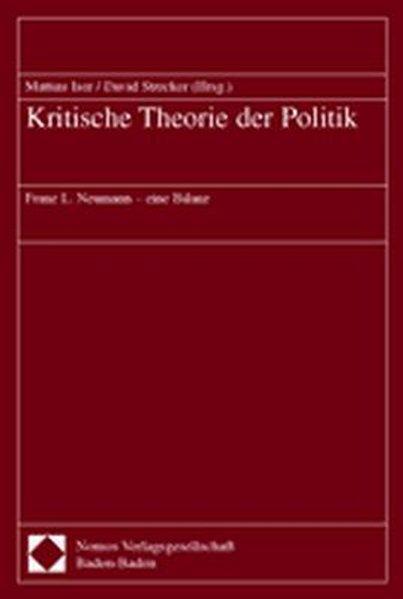 Kritische Theorie der Politik als Buch