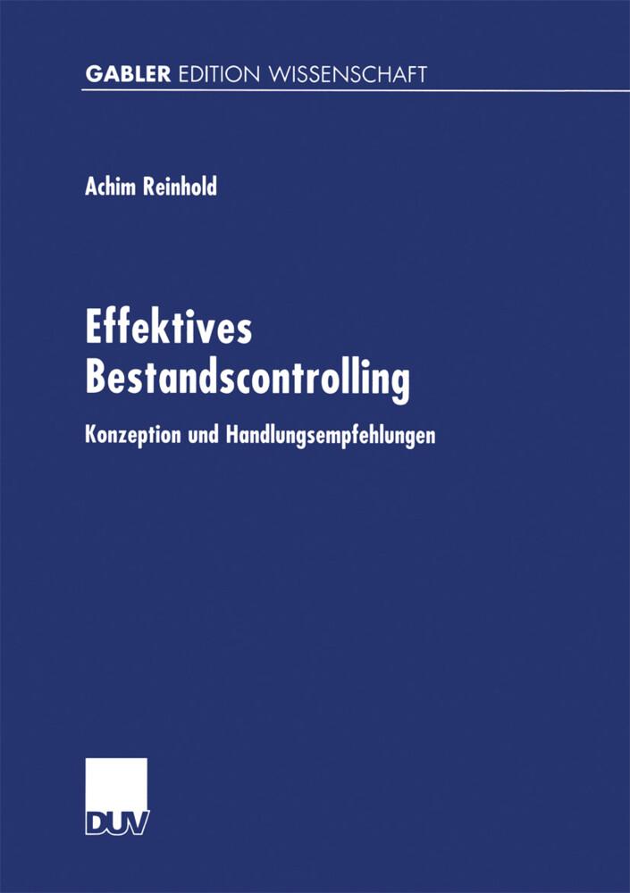 Effektives Bestandscontrolling als Buch