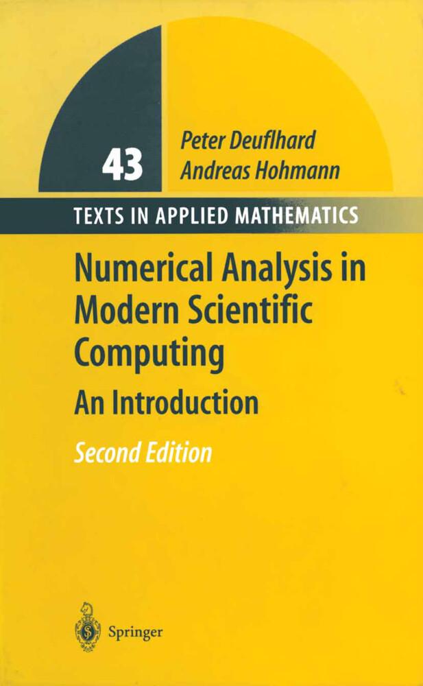 Numerical Analysis in Modern Scientific Computing als Buch