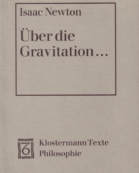 Über die Gravitation als Buch