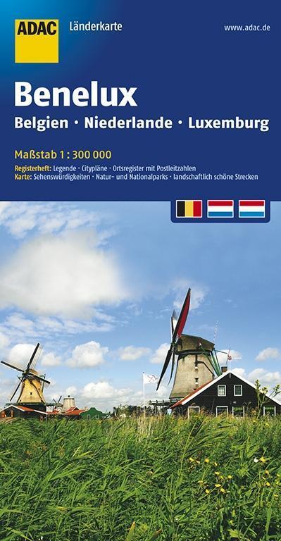 ADAC LänderKarte Benelux 1 : 300 000 als Buch