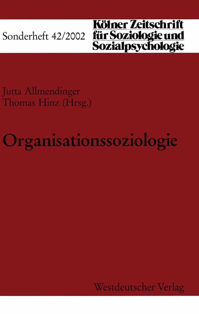 Organisationssoziologie als Buch