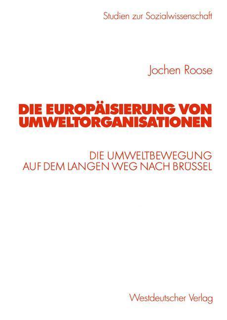Die Europäisierung von Umweltorganisationen als Buch