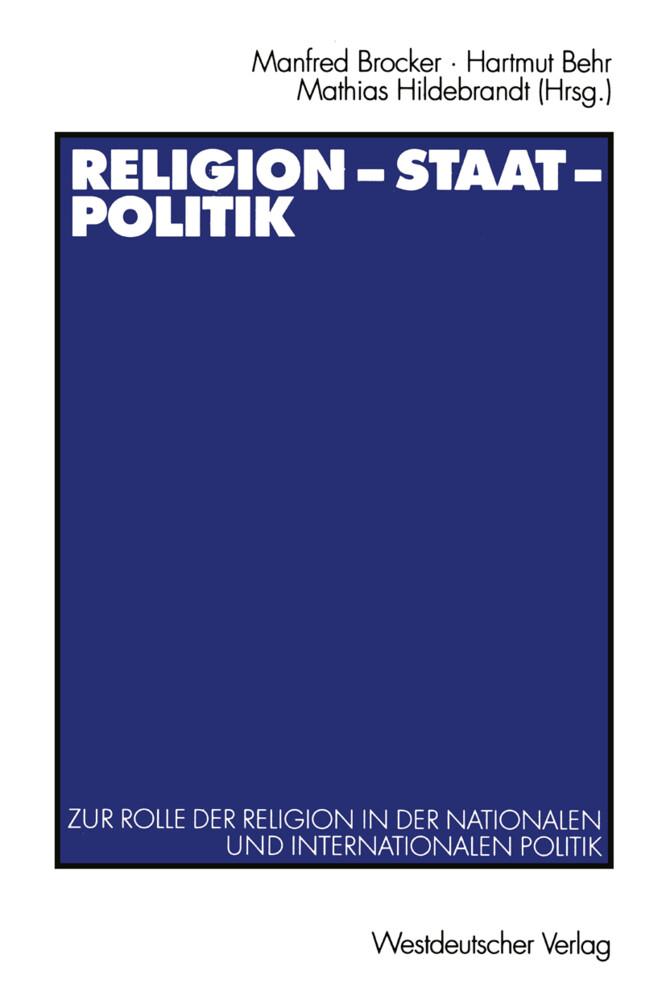Religion - Staat - Politik als Buch
