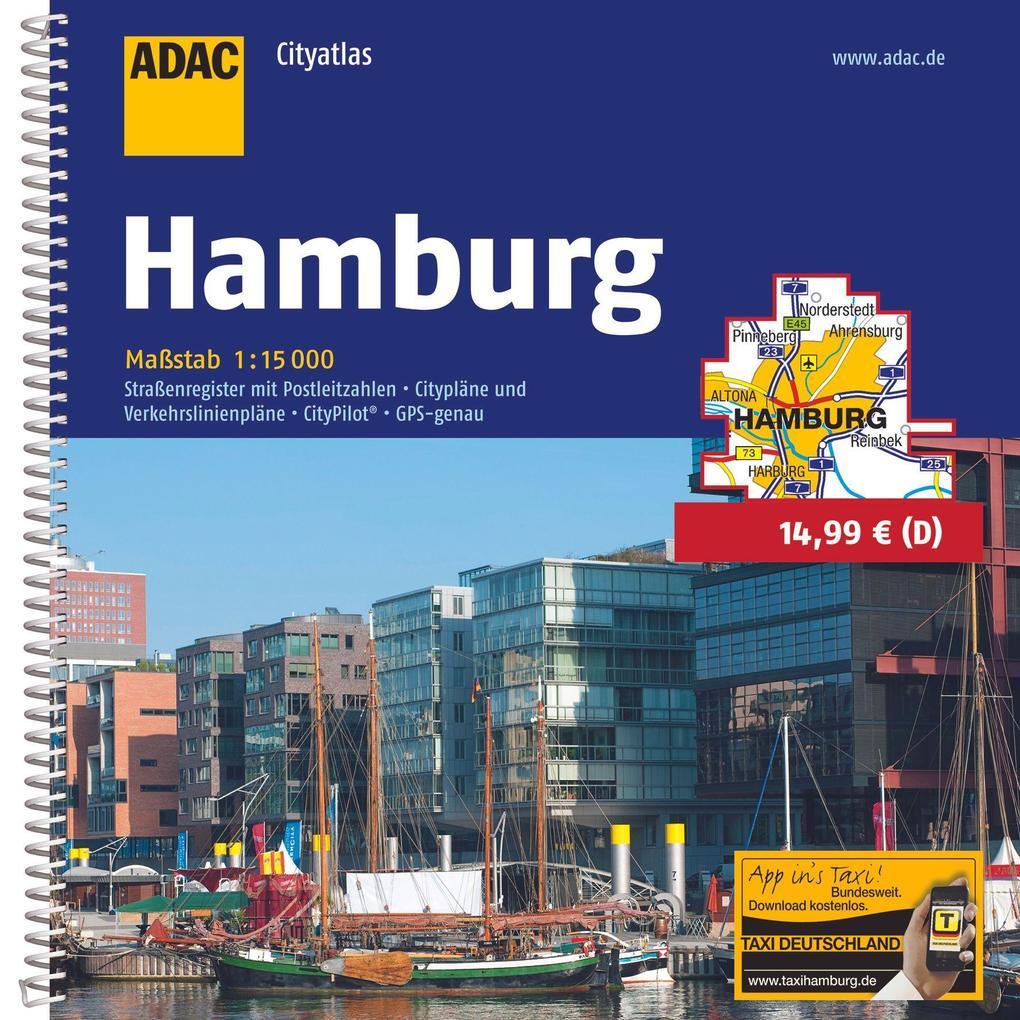 ADAC CityAtlas Hamburg 1 : 15 000 als Buch