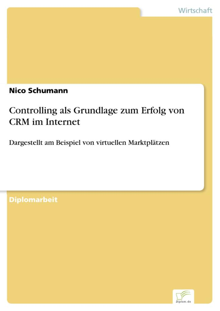 Controlling als Grundlage zum Erfolg von CRM im Internet als eBook