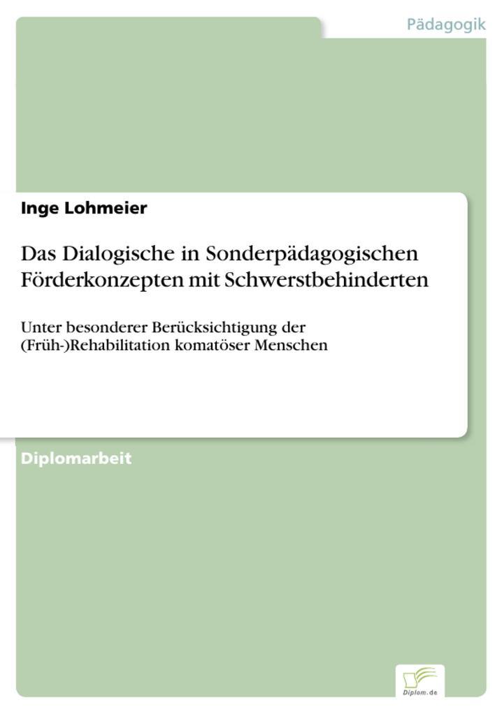 Das Dialogische in Sonderpädagogischen Förderko...