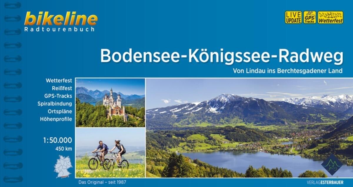 Bikeline Bodensee-Königssee-Radweg 1 : 50 000 als Buch