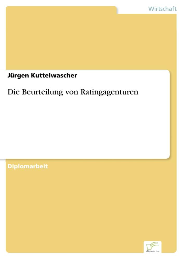 Die Beurteilung von Ratingagenturen als eBook pdf