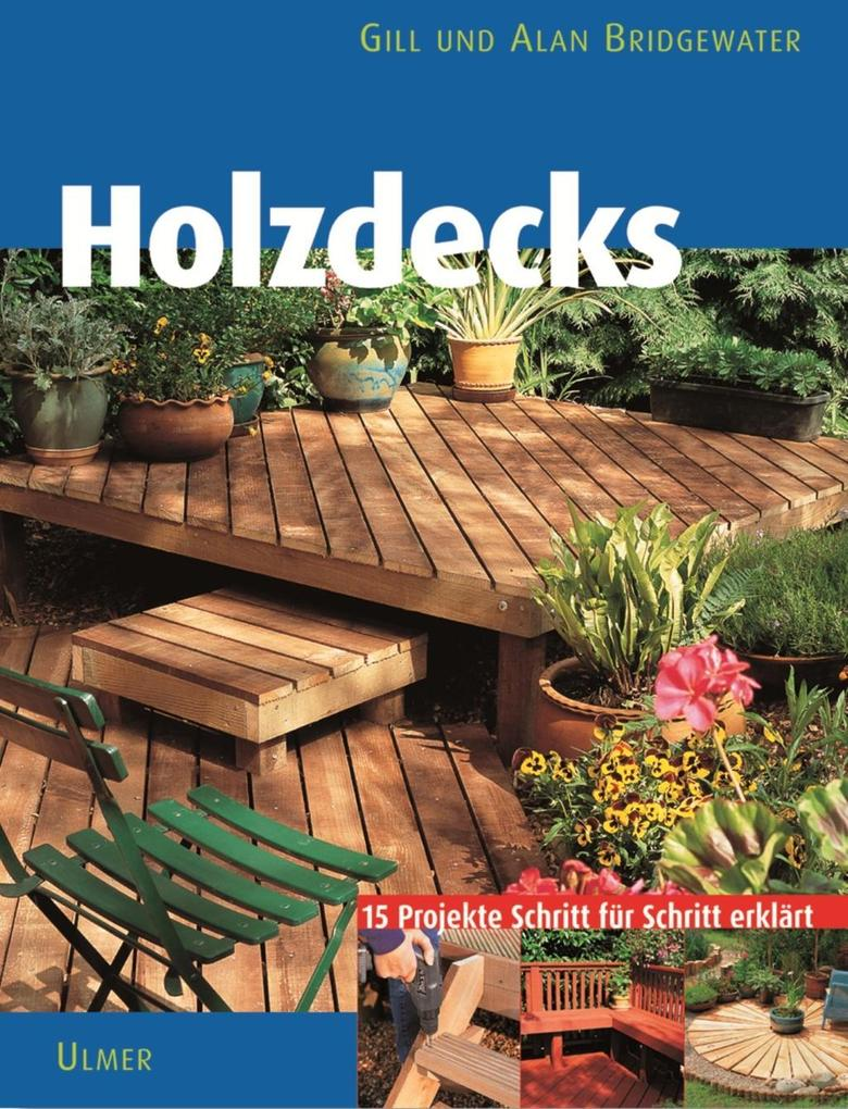 Holzdecks im Garten als Buch