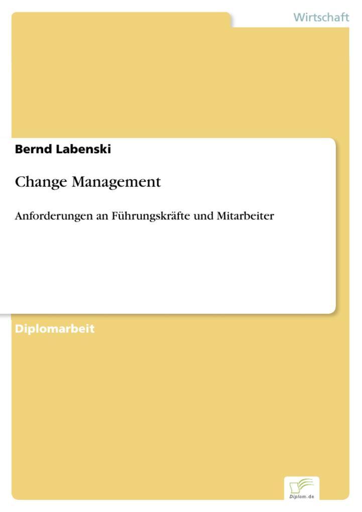 Change Management als eBook von Bernd Labenski - Diplom.de
