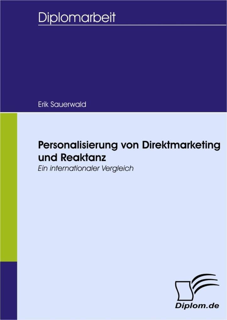 Personalisierung von Direktmarketing und Reaktanz als eBook