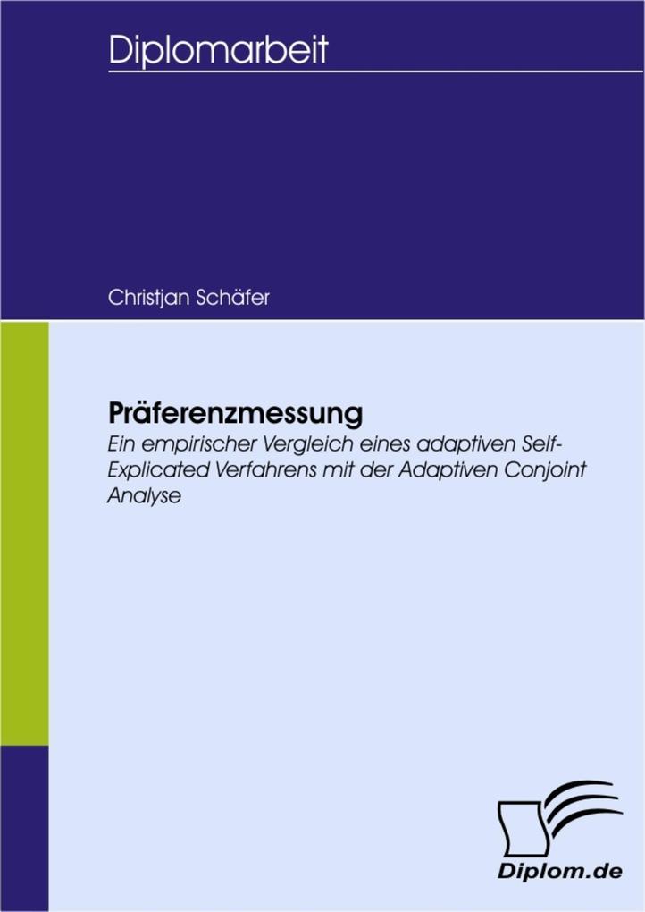 Präferenzmessung als eBook pdf