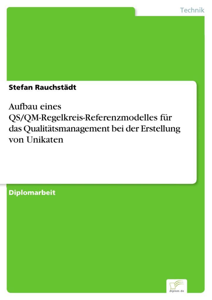 Aufbau eines QS/QM-Regelkreis-Referenzmodelles für das Qualitätsmanagement bei der Erstellung von Unikaten als eBook pdf