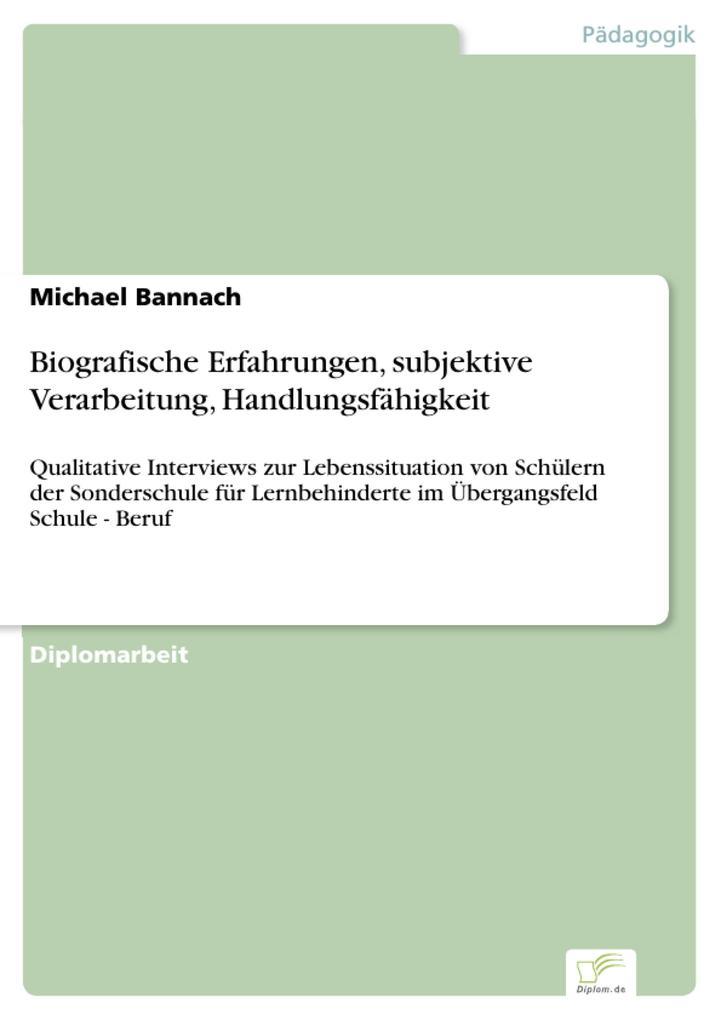 Biografische Erfahrungen, subjektive Verarbeitung, Handlungsfähigkeit als eBook