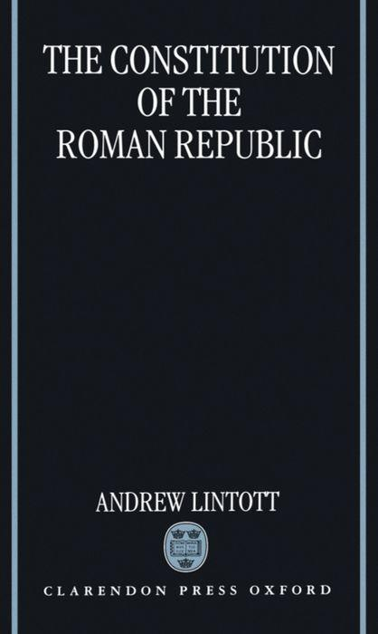 The Constitution of the Roman Republic als Buch