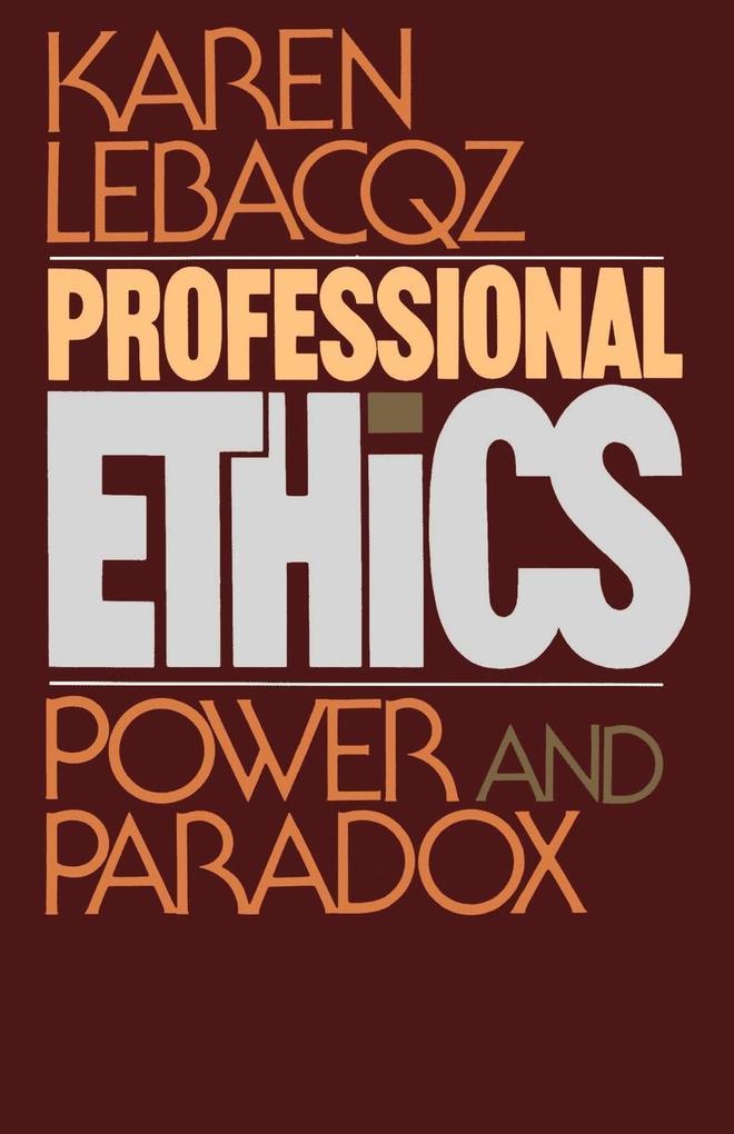 Professional Ethics als Taschenbuch