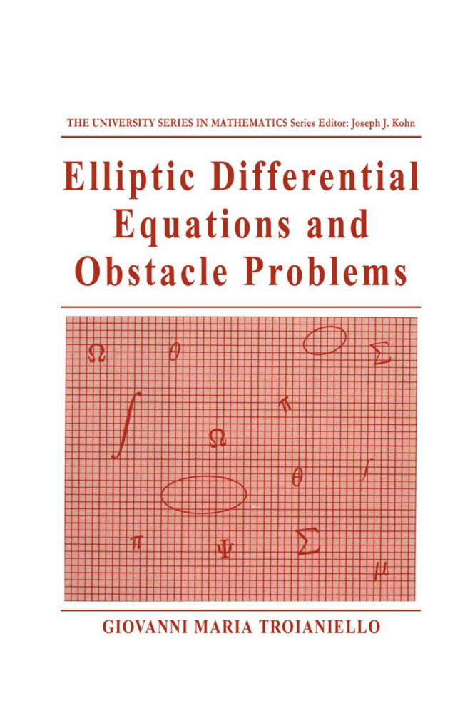 Elliptic Differential Equations and Obstacle Problems als Buch