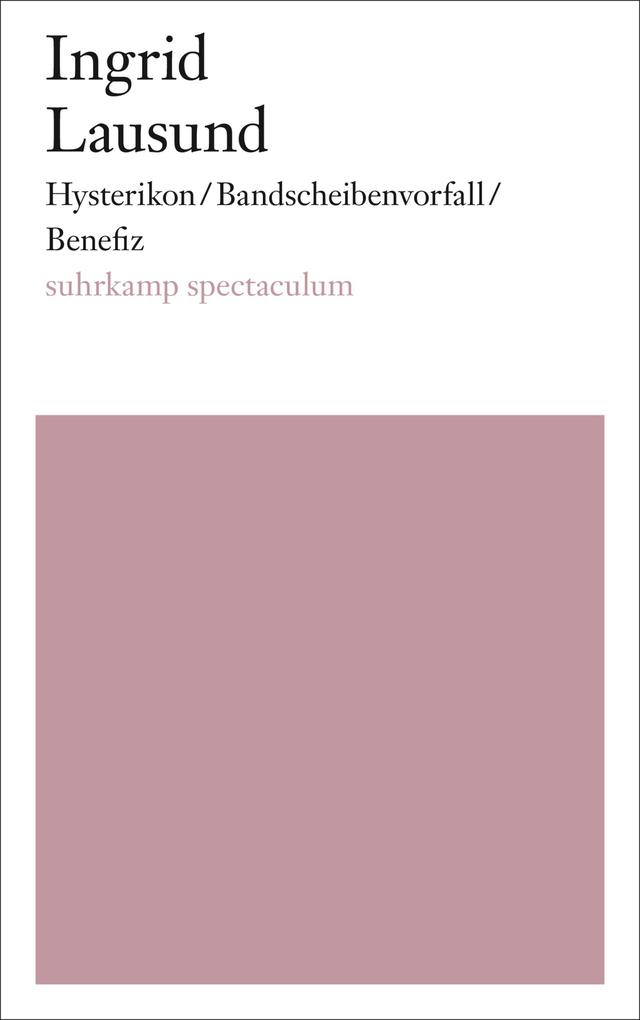 Hysterikon/Bandscheibenvorfall/Benefiz als eBook