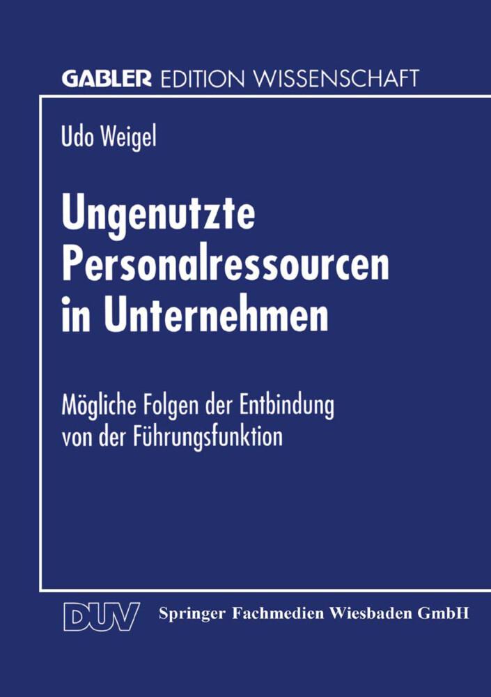 Ungenutzte Personalressourcen in Unternehmen als Buch