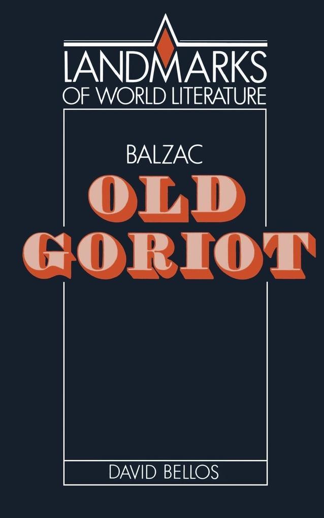 Balzac: Old Goriot als Buch