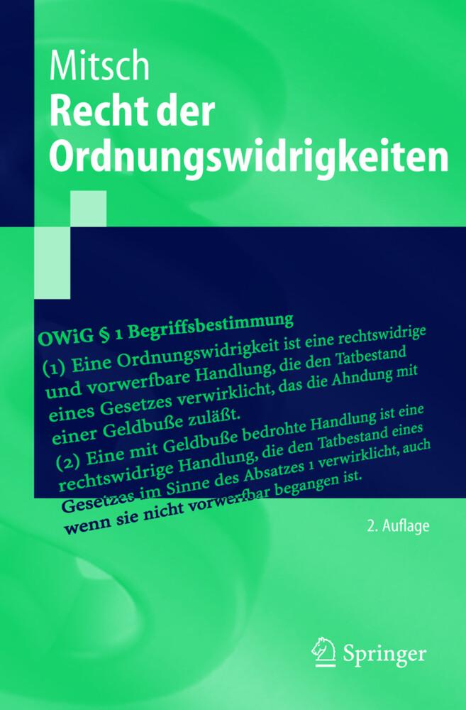 Recht der Ordnungswidrigkeiten als Buch