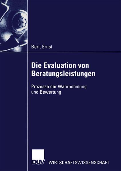 Die Evaluation von Beratungsleistungen als Buch