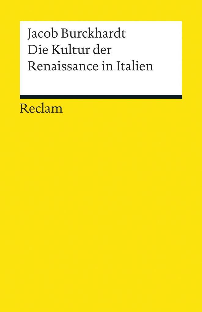 Die Kultur der Renaissance in Italien als Taschenbuch