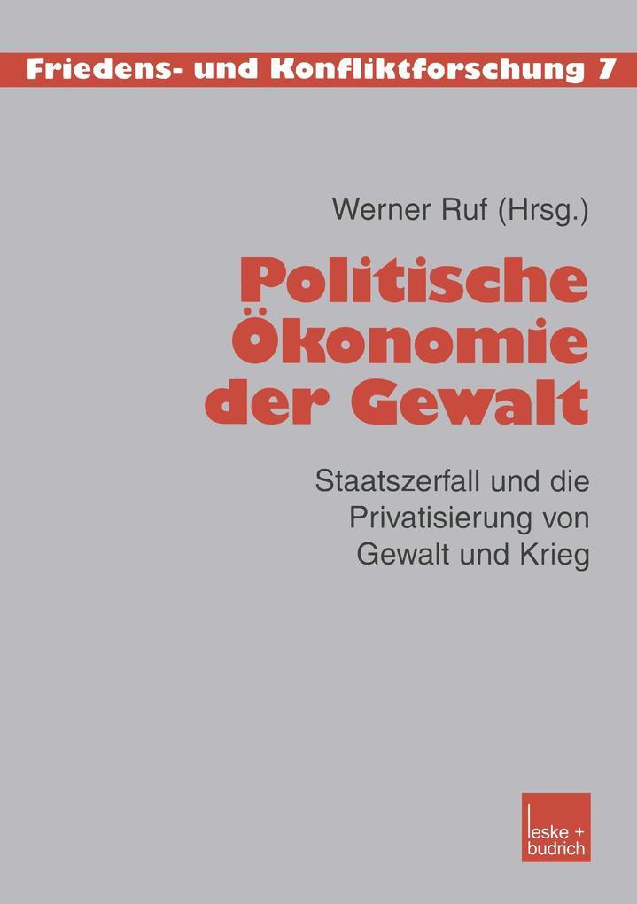 Zur politischen Ökonomie der Gewalt als Buch