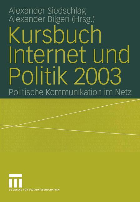 Kursbuch Internet und Politik 2003 als Buch
