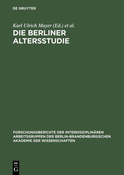 Die Berliner Altersstudie als Buch
