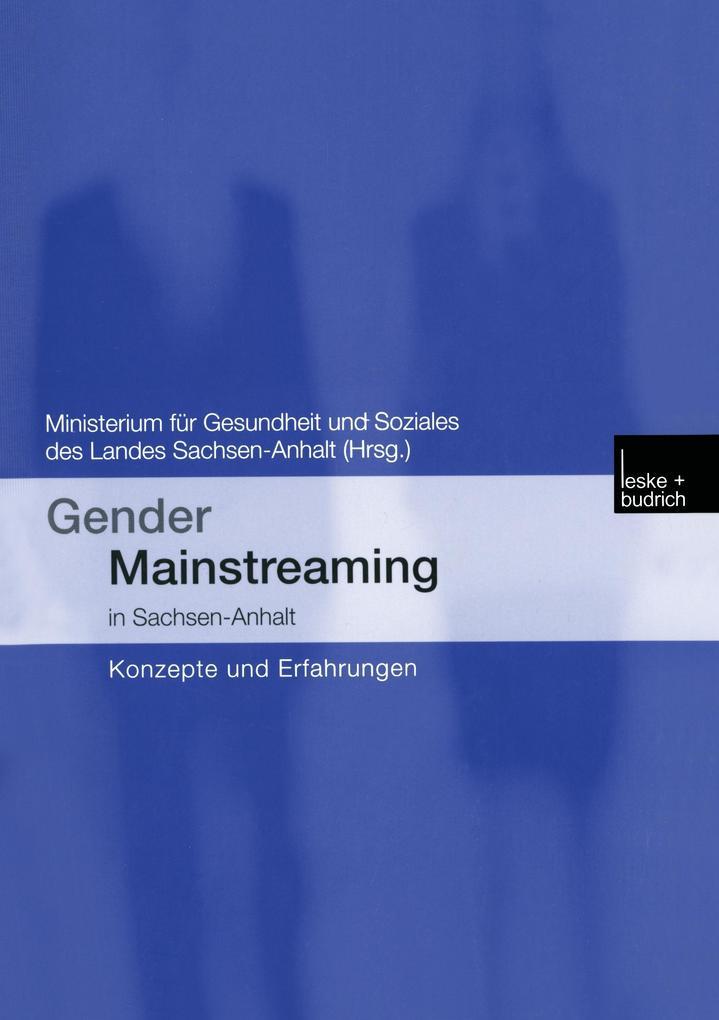Gender Mainstreaming in Sachsen-Anhalt als Buch